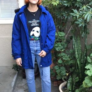 Vintage royal blue IZZI winter jacket